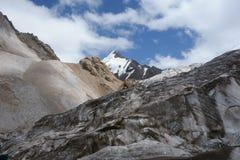 山风景。世界屋脊 免版税库存照片