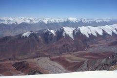 山风景。世界屋脊 图库摄影