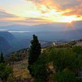 山风景。 图库摄影