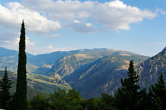 山风景。 库存图片