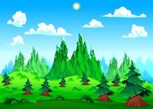 山风景。 免版税库存照片