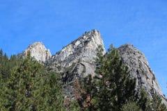 山风景优胜美地国家公园 库存图片