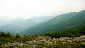 山风景全景,自然秀丽  免版税库存照片