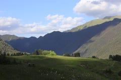 山风景全景 库存图片