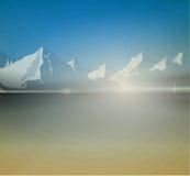 山风景减速火箭的传染媒介背景 库存图片