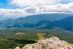 山风景在克里米亚 免版税库存照片