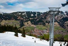 山风景在南德国 免版税库存图片