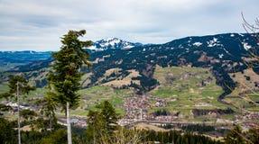 山风景在南德国 免版税库存照片