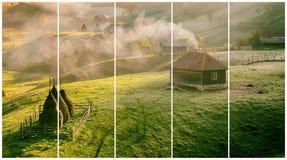 山风景在夏天早晨,罗马尼亚 库存图片