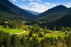 山风景在夏日 免版税库存图片