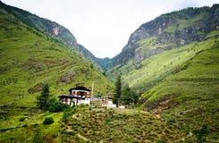 山风景在廷布,不丹 免版税图库摄影
