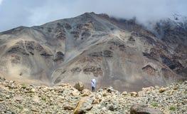 山风景在拉达克,北印度 库存图片