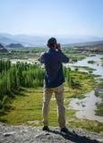 山风景在拉达克,印度 库存照片