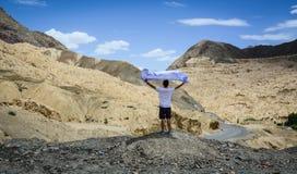 山风景在拉达克,印度 库存图片