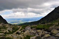 山风景在斯洛伐克,高Tatras 图库摄影
