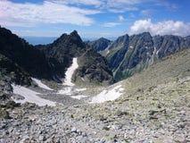 山风景在斯洛伐克,高Tatras 库存照片