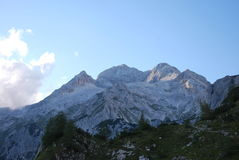 山风景在斯洛文尼亚 免版税库存照片