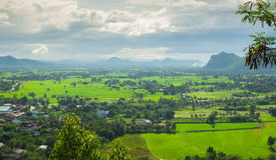 山风景在泰国 免版税图库摄影
