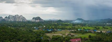 山风景在泰国 图库摄影