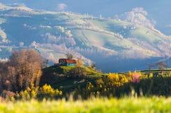 山风景在秋天 免版税库存图片