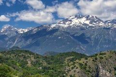 山风景在苏沙谷,山麓 图库摄影