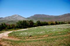 山风景在马其顿 图库摄影