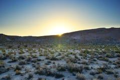 山风景在黎明 库存图片