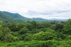 山风景在Chiangmai泰国 免版税库存照片