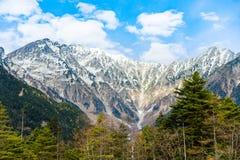 山风景在Kamikochi 库存图片