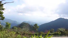 山风景看法反对天空的 影视素材