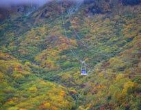 山风景秋天在日本 免版税库存图片