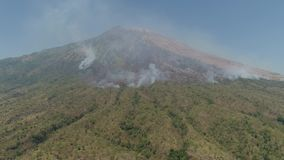 山风景阿贡火山,巴厘岛,印度尼西亚 股票录像