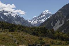 山风景,库克山,新西兰 免版税库存图片