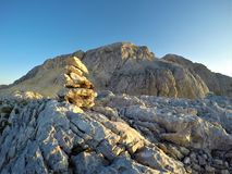 山风景,朱利安阿尔卑斯山,斯洛文尼亚 免版税库存照片