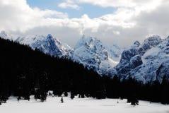山风景Dolomiti 库存照片