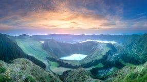 山风景Ponta Delgada海岛,亚速尔群岛 图库摄影