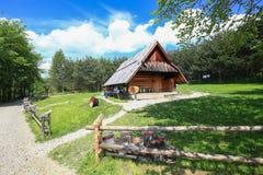 山风雨棚的看法在Pieniny国家公园/波兰 库存照片