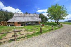 山风雨棚的看法在Pieniny国家公园/波兰 免版税库存图片