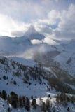 山马塔角zermatt瑞士 库存照片