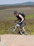 山骑自行车 库存图片