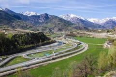 山高速公路 库存照片