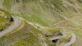 山高速公路Timelapse,罗马尼亚(24fps) 股票视频