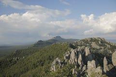 山,国家公园Taganay,南乌拉尔 免版税库存照片