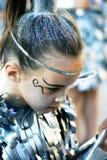 黑山,新海尔采格- 04/06/2016 :化妆舞会的成员的画象以星战士的形式 免版税库存照片