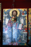 黑山,新海尔采格- 30/09/2015 :基督象圣障的在圣母升天节的一个小教会里 库存图片
