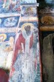 黑山,新海尔采格- 30/09/2015 :老壁画在保佑的圣母玛丽亚的做法的小教会里 免版税库存图片