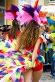 黑山,新海尔采格- 6 06 2015年:表现舞蹈俱乐部Diano 免版税库存图片