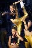 黑山,新海尔采格- 04/06/2016 :门的内哥罗的跳舞女小学生 库存图片