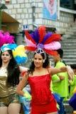 黑山,新海尔采格- 6 06 2015年:从舞蹈俱乐部Diano的女孩 免版税库存照片