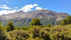 山,火地群岛国家公园,乌斯怀亚,阿根廷 免版税库存图片